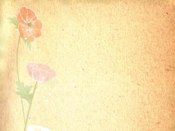 素净淡雅花朵ppt模板清新简约免费版