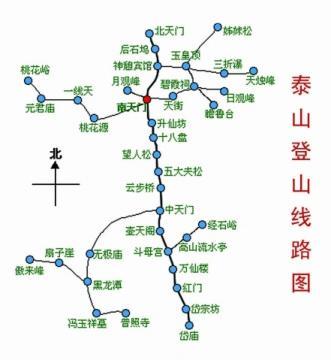 泰山旅游地图