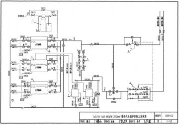 蓄热式电锅炉房热工检测系统图图例及文字符号3-2 蓄热式电锅炉房热