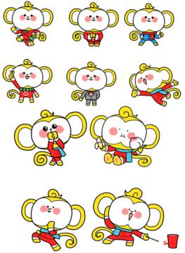 2016春节拜年表情包|2016猴哥春节动态表情包1.0 免费
