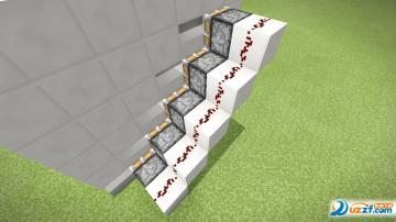我的技法红石隐藏楼梯做隐藏世界制作教程教程楼梯讲座书法隶书m图片